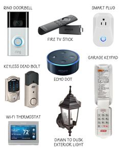 Smart home technology that saves you time, money and increases the safety of you. - - Smart home technology that saves you time, money and increases the safety of your home. Products for both inside and outside of your home. Wireless Home Security Systems, Security Tips, Security Camera, Smart Home Security, Wall E, Smart Home Technology, Technology Gadgets, Technology Design, Electronics Gadgets