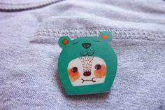 cute Shrink Plastic Brooch