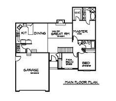 Simple rambler house plans   three bedrooms   Small Split    Simple rambler house plans   three bedrooms   House Main Floor Plan