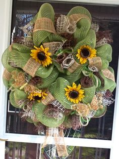 Organic & Natural Deco Mesh  Wreath