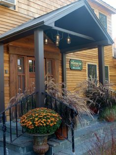 Rustic Inn Gets Makeover with Chandelier, Post Mount Lights | Blog | BarnLightElectric.com