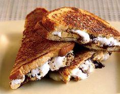 Caramelized Chocolate, Banana, and Marshmallow Sandwiches