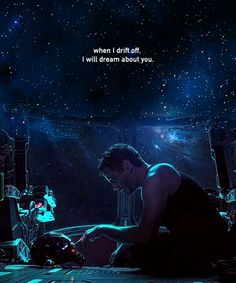 When I drift off, I will dream about you. Tony Stark in Avengers: Endgame Marvel Avengers, Avengers Quotes, Marvel Quotes, Avengers Imagines, Avengers Cast, Marvel Memes, Marvel Fan, Tony Stark Wallpaper, Marvel Wallpaper