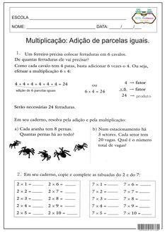 SOS PROFESSOR-ATIVIDADES: Ideias da multiplicação