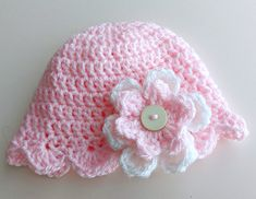 Baby Flower Hat, Baby Girl Hat, Flower Beanie, Photo Prop, Baby Girl Gift, Baby Shower Gift, Large Flower Hat, Pretty Hat, Spring Baby Hat Funky Hats, Cute Hats, Baby Girl Hats, Girl With Hat, Hat Flower, Spring Hats, Large Flowers, Handmade Baby, Girl Gifts
