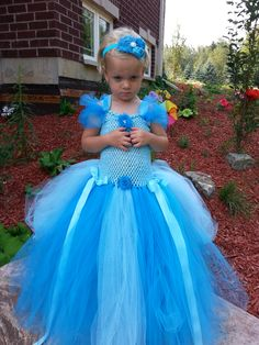 Beautiful Tutu, my little model got a little tired by this dress :)