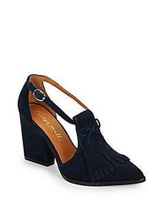 Kiltie Suede Pumps - great work shoe