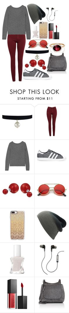 """""""Untitled #126"""" by random-phoebe ❤ liked on Polyvore featuring AG Adriano Goldschmied, Equipment, adidas Originals, Bling Jewelry, ZeroUV, Casetify, Essie, Merkury, Smashbox and The Row"""