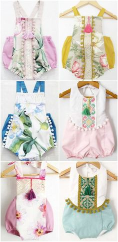 Beautiful Handmade Boho Baby Rompers | VivaBohoKids on Etsy