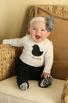 Just the cutest baby and outfit! LOVE LOVE
