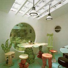 Dream Home Design, House Design, Design Design, Design Ideas, Interior Architecture, Interior And Exterior, Retro Interior Design, 1980s Interior, Futuristic Interior
