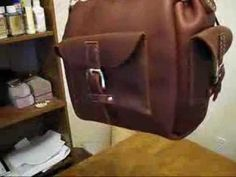▶ Making A Leather Utility Bag - YouTube