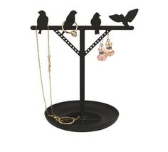 Bird Jewelry Stand and more Silly Gifts at Perpetual Kid. Hang your jewelry collection in style with our Bird Is The Word Jewelry Stand! Jewelry Hanger, Jewelry Stand, Wire Jewelry, Jewellery Holder, Creative Gifts, Unique Gifts, Silly Gifts, Room Accessories, Bird Design