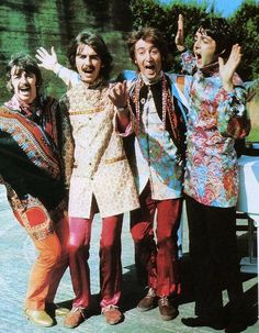 The Beatles in a scene from 'Magical Mystery Tour', 1967 (History Pics)
