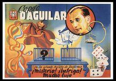 "D'AGUILAR. ""Condé Aguilar. Con su revista of high ilusiones."" Lithograph"