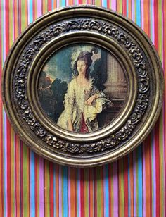 Charming classic artwork of Marie Antoinette in heavy Rococo