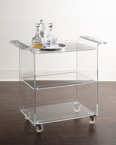 H7RLN Nicole Acrylic Bar Cart