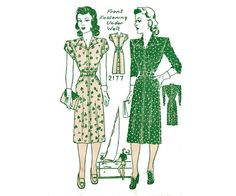 Check out this item in my Etsy shop https://www.etsy.com/au/listing/158734081/1940s-plus-size-shirt-dress-pattern