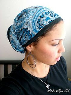 Jewish tichel, it almost demands the big earrings -- not sure I could pull this off - but me likey!!