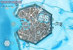 Whitethrone - town map