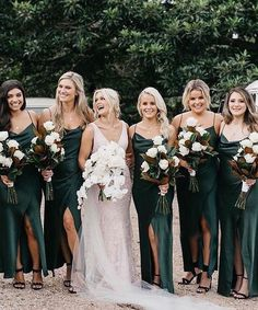Online shopping for Spaghetti Straps Dark Green Split Side Bridesmaid Dresses for Wedding Party. Find out what's hot and new from our online store. Olive Green Bridesmaid Dresses, Bridesmaid Dress Colors, Wedding Bridesmaid Dresses, Wedding Looks, Dream Wedding, Sheath Wedding Gown, Wedding Styles, Wedding Inspiration, Wedding Ideas