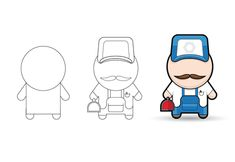 Create a Simple Mechanic Character in Illustrator