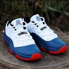 Air Jordan 11 Low Arizona Wildcats Customs by PKZUNIGA Jordan 13 ca9f3ef43