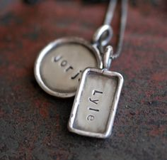 Featured on Kaboodlecom  Hand Stamped Distressed by jenerijewelry, $102.00