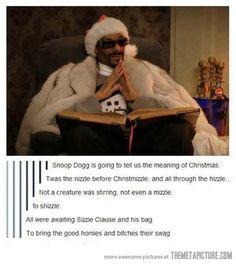 Christmas with Snoop Dogg…>> OMG THIS MADE ME LAUGH REALLY HARD >_