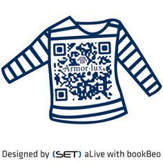 QR bookBeo designé par SET pour la marque Armor-Lux Sailor Fashion, Qr Codes, Sailor Style, France, Sweatshirts, 2d, Indigo, News, Design