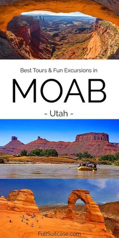 Best tours and excursions in Moab Utah: Arches National Park, Canyonlands, 4x4 tours, rafting, canyoneering, petroglyphs, and more #utah Moab Utah, Utah Hikes, Zion National Park, National Parks, Arches Np, Rafting Tour, Boat Tours, Amazing Destinations, Cool Places To Visit