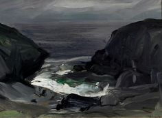 George Bellows (American, 1882-1925), The Coming Storm, 1911. Oil on panel, 28.58 x 38.74 cm. Albrecht-Kemper Museum of Art.