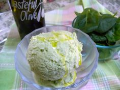 Popeye and Olive Oyl Kefir Ice Cream - Cultured Food Life Frozen Fruit, Frozen Treats, Frozen Yogurt, Fruit Ice, Olive Oil Ice Cream, Lemon Ice Cream, Kefir Recipes, Raw Food Recipes, Healthy Desserts