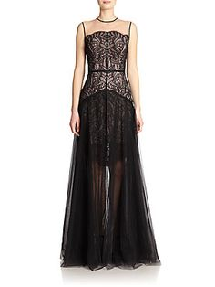 1d66065a8796 NHA KHANH Audree Lace   Tulle Layered Gown Brown Slacks
