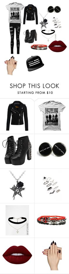 """""""fall out boy"""" by karista1967brown on Polyvore featuring Superdry, Topshop, ASOS, Lime Crime and Static Nails"""