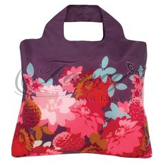 5c658c09fa Purple Dahlia Reusable Roll Up Bag by Papersource