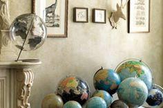 Vintage Globes Decor