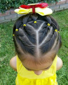 36 Super Cute Hairstyles For Your Daughter 2019 - Layla hair :) - hair Easy Little Girl Hairstyles, Girls Hairdos, Baby Girl Hairstyles, Princess Hairstyles, Boy Haircuts, Short Teen Hairstyles, Easy Toddler Hairstyles, Undercut Hairstyles Women, Easy Hairstyles