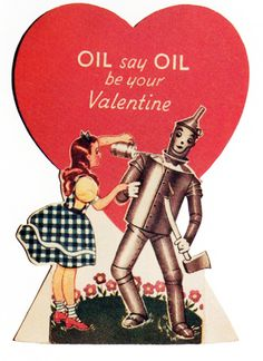 Dorothy and the Tin Man Valentine