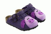 Birkis clogs Kay Tiermotiv in size 26.0 N EU made of Birko-Felt in Felt Pig with a narrow insole