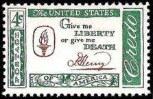 Patrick Henry Credo US Postage Stamp