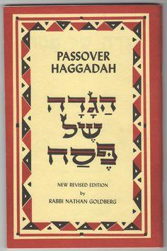 Lot of 4 Vintage 1970's Passover Haggadah Revised Edition Rabbi Nathan Goldberg