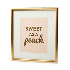 Sweet as a Peach Print, $20 | Stephanie Creekmur …. Southern Living's Holiday Gift Guide! Gifts for Her! <3