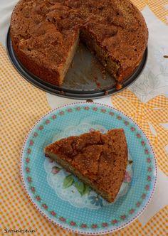 Swanocean: Whole wheat apple cinnamon cake-Κέικ ολικής άλεσης με μήλο και κανέλα