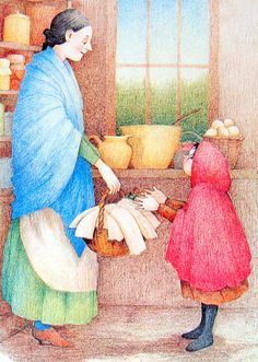 """Diane Goode illustration for """"The Random House Book of Fairy Tales""""."""