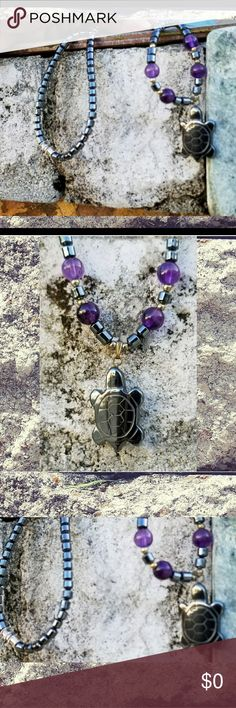 The Amethyst Turtle..Coming soon! Beautiful Amethyst and onyx necklace, featuring the symbolic turtle Jewelry Necklaces