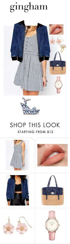 """Gingham vibes"" by iamcaroline ❤ liked on Polyvore featuring Jack Wills, ShoeDazzle, WithChic, Kate Spade, LC Lauren Conrad, Topshop and Ross-Simons"