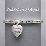 Amazon.com: Religious Jewelry, Silver Tone Bracelet with Heart Charm & Serenity Prayer: Jewelry