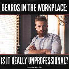 Are you torn between keeping your beard and shaving it entirely before you show up in your new workplace for the first time? If you are wondering whether a beard in the workplace bears an effect on professionalism, cleanliness, productivity, and work ethic, we will provide an answer to that. Here is a short clip of our Beards In The Workplace: Is It Really Unprofessional? article. You can read and learn more about it on our website. #nakedarmor #wetshaving #straightrazor #mensgrooming… Shaving Tips, Shaving Soap, Professional Beard, Beard Suit, Healthcare Jobs, Zero The Hero, Clean Shaven, Beard Growth, Work Ethic