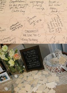 120 Pc Wedding Tree Guest Book Puzzle - Rustic Autumn Wedding Guest Book…